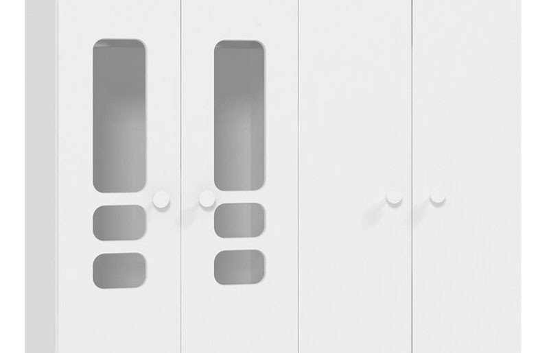 Guarda Roupa Smart 4 Portas Branco Brilho - Matic Móveis