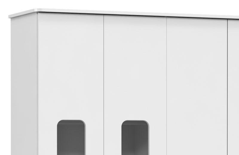 Guarda-Roupa Smart 4 Portas Branco Soft - Matic Móveis