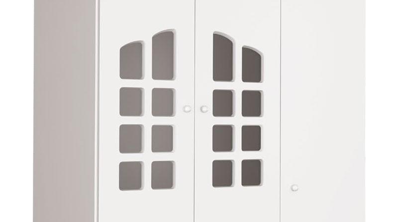 Guarda Roupa Theo 3 Portas Branco Brilho - Imaza Moveis