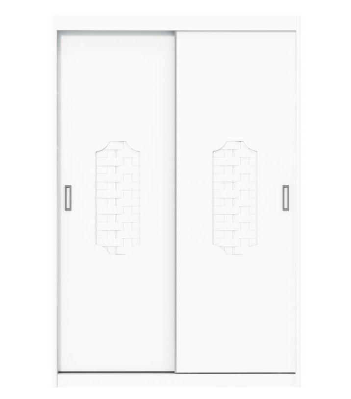 Guarda-Roupa Trelica New 2 Portas de Correr Branco Brilho - Matic Moveis
