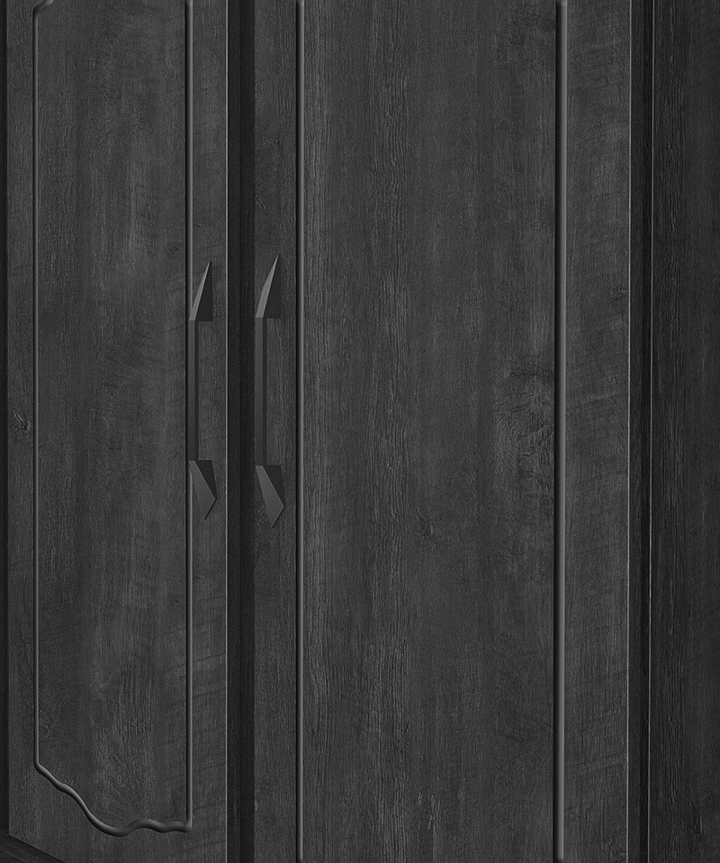 Guarda Roupa Triplex 3 Portas Cristal Imbuia - FabriMoveis