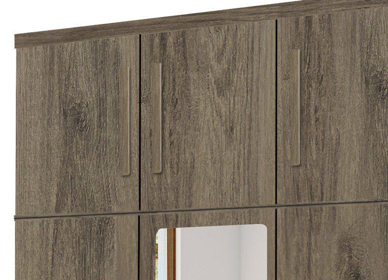 Guarda-Roupa Triplex Elegans 3 Portas com Espelho Teka - Trinobél Móveis