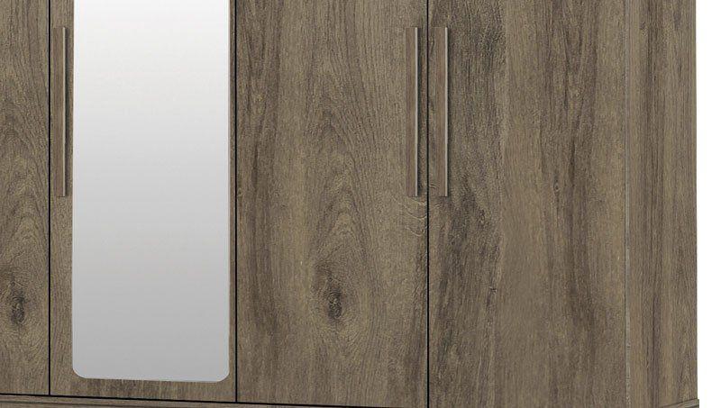 Guarda-Roupa Triplex Gávea 5 Portas com Espelho Teka - Trinobél Móveis