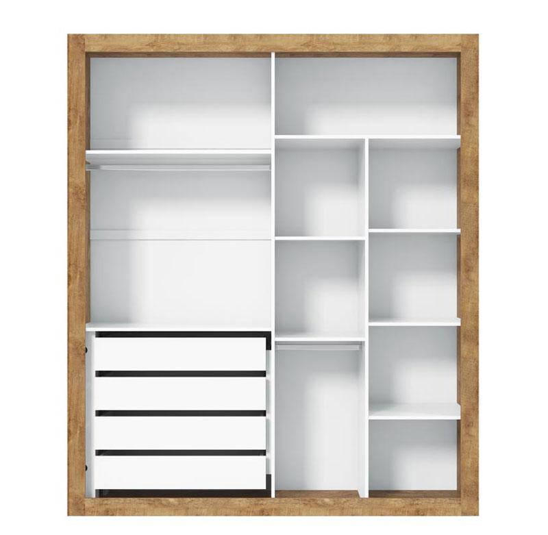 Guarda-Roupa Tutto New Toque 4 Portas Branco Fosco com Teka - Matic Móveis