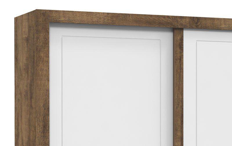 Guarda-Roupa Tutto New 2 Portas de Correr Branco Soft com Teka - Matic Móveis