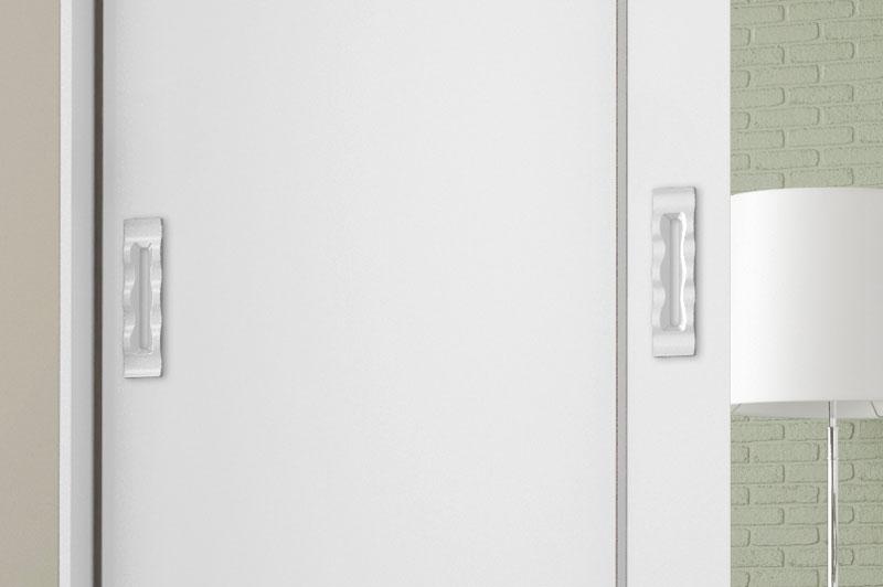 Guarda Roupa Valenca com Espelho Branco Brilho - Móveis Bechara