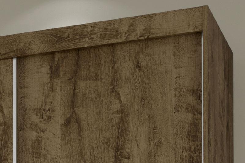 Guarda Roupa Valenca com Espelho Madeira Rústica - Móveis Bechara