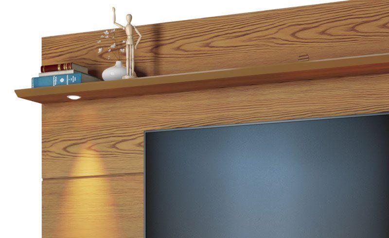 Home Suspenso Decore Led 1.8 Freijó com Off White - Imcal Móveis  - MoveisAqui - Loja de móveis online!