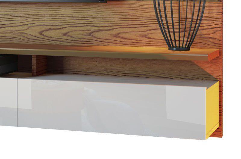 Home Suspenso Decore Led 2.2 Freijó com Off White - Imcal Móveis