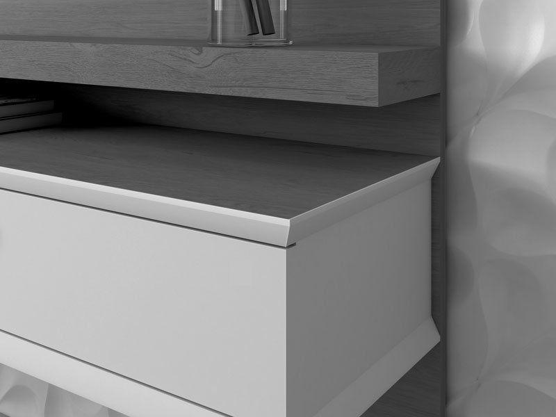 Home Suspenso Invictus 1.3 Off White com Naturale - EDN Móveis