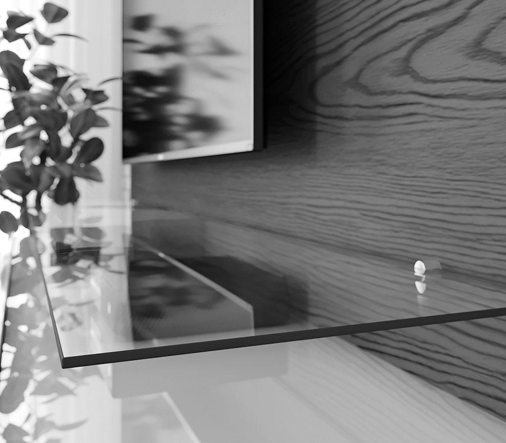 Home Suspenso Vidratto 2.2 Nature com Off White - Imcal Móveis