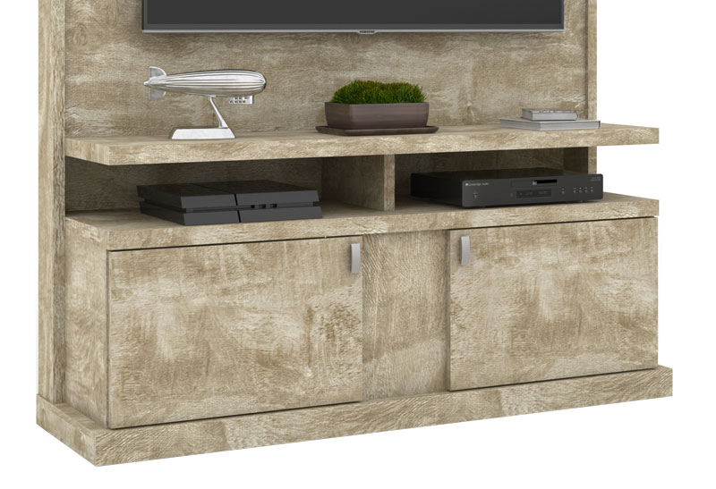 Home Theater Alabama Rovere - Lukaliam Moveis