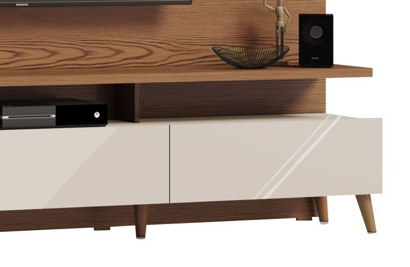 Home Theater Boss 2.2 Freijó com Off White - Imcal Móveis
