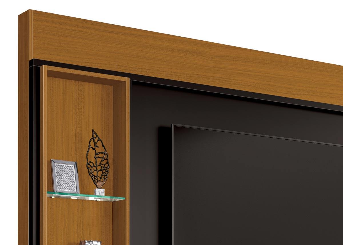 Home Theater Coliseu Cedro Natural com Preto 2.2 - EDN Móveis