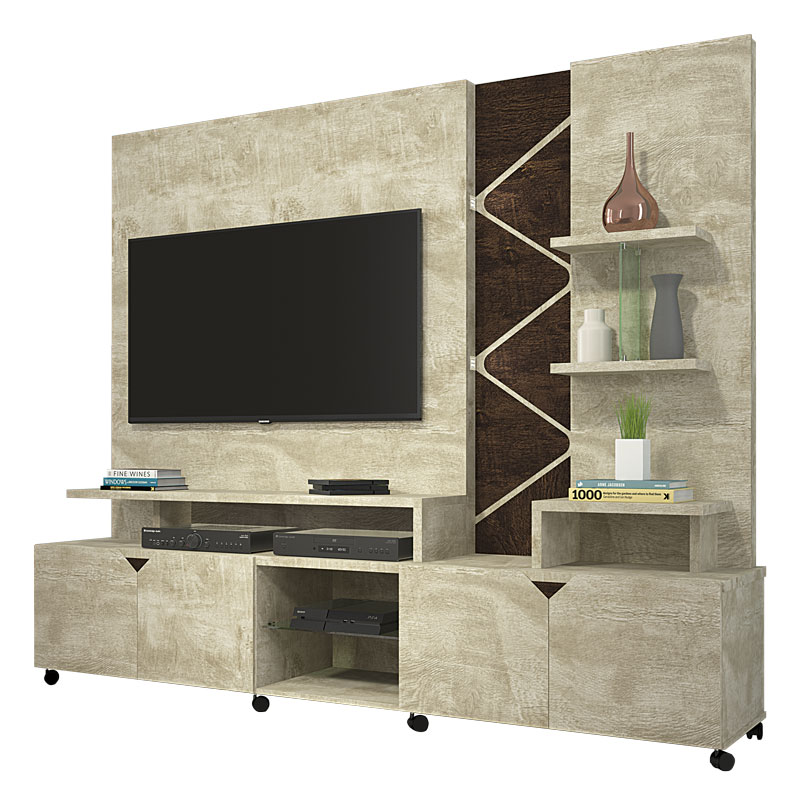 Home Theater Cross Rovere com Noce - Lukaliam Moveis