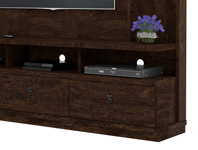 Home Theater Dinamarca Noce - Lukaliam Moveis