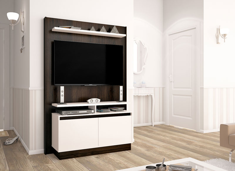 Home Theater Fit Ameixa com Off White - Imcal