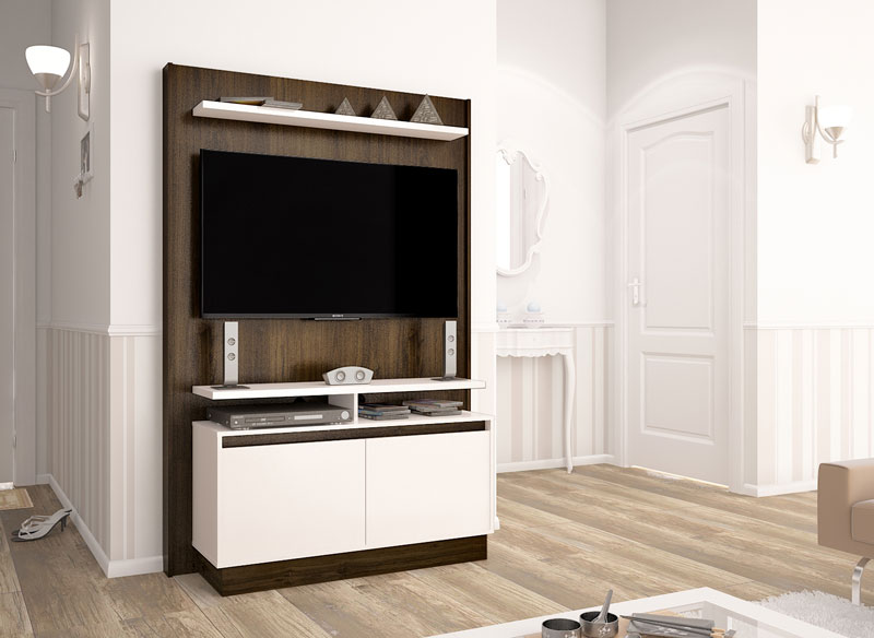 Home Theater Fit Imbuia com Off White - Imcal