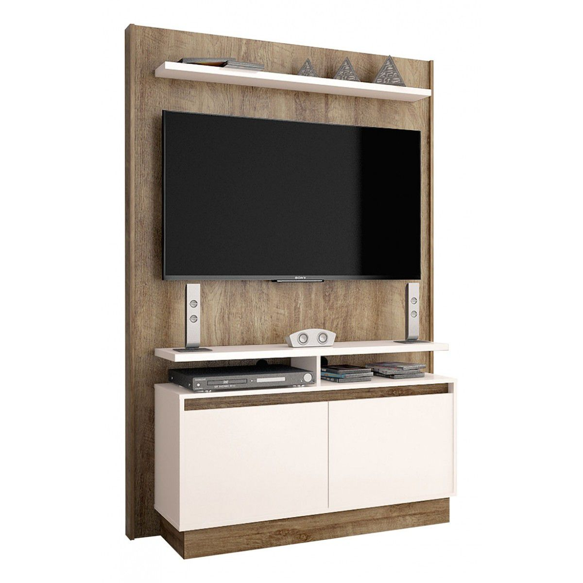 Home Theater Fit Madeira com Off White - Imcal