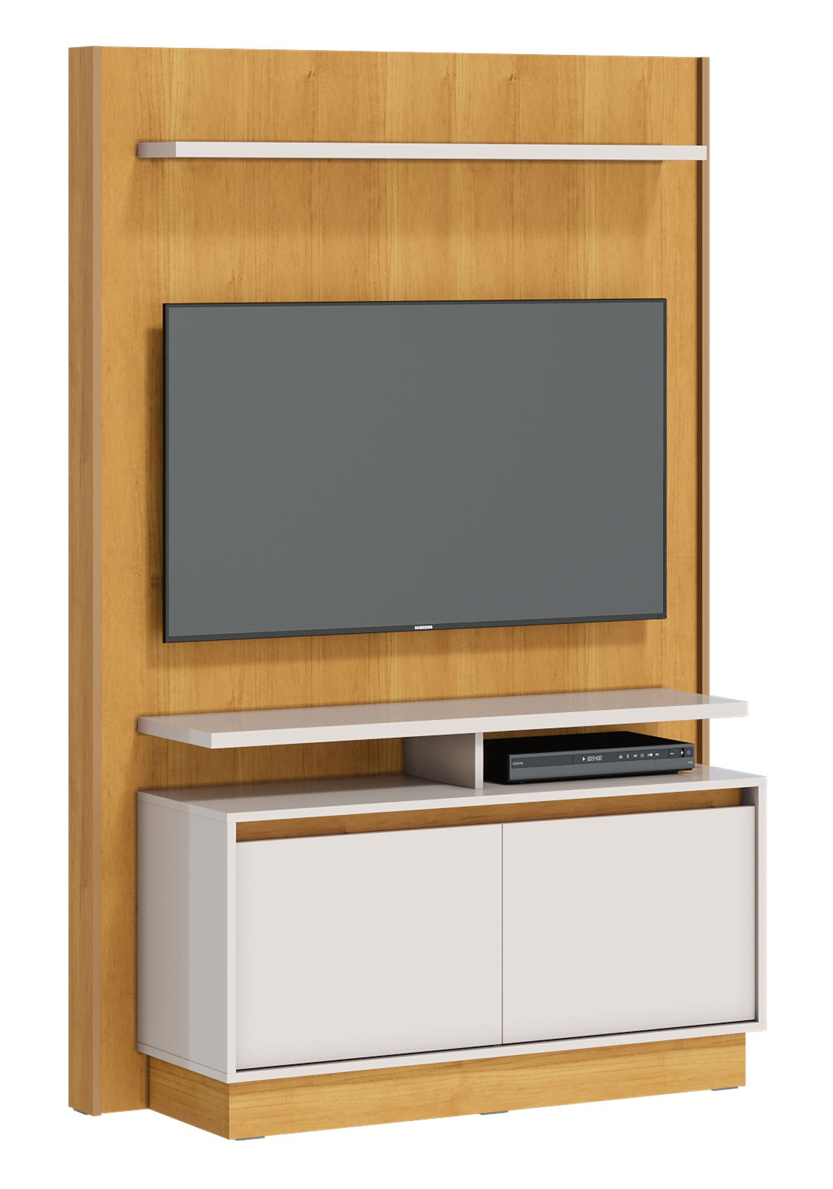 Home Theater Fit Nature com Off White - Imcal Móveis