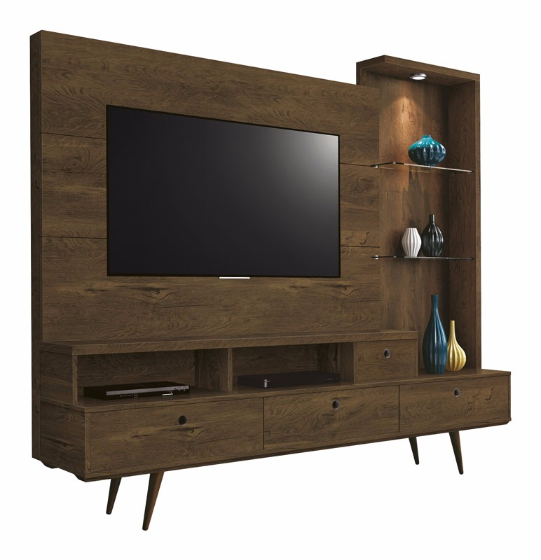 Home Theater Tifany Nogal Rustico - Edn Moveis