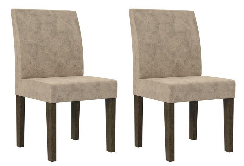 Jogo de 2 Cadeiras Europa Noce c/ Pena Caramelo - RV Móveis