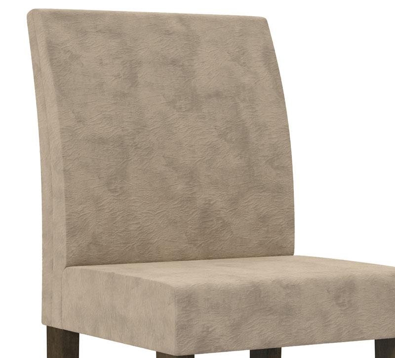 Jogo 2 Cadeiras Europa Noce c/ Suede Bege - RV Móveis