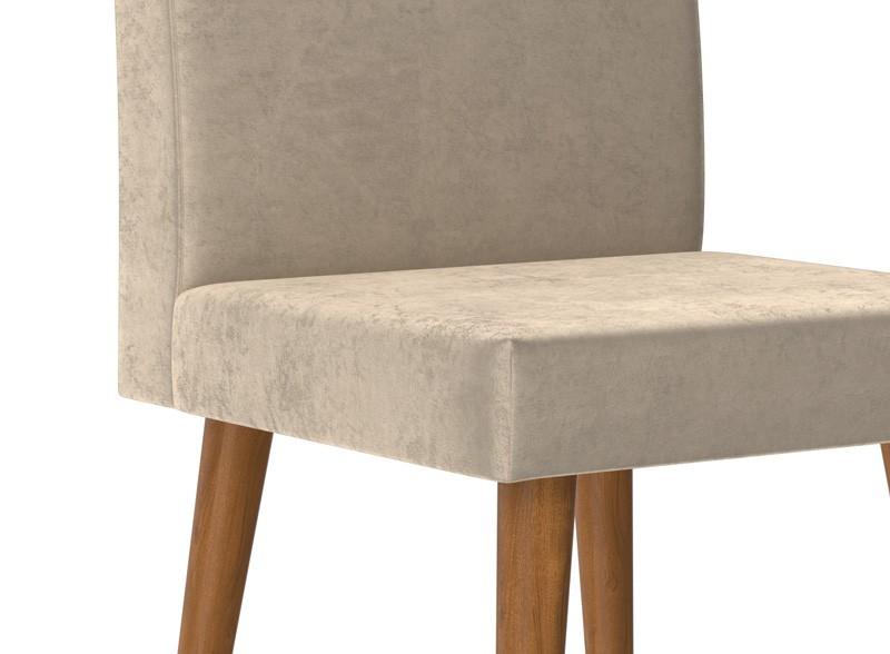 Jogo de 2 Cadeiras Jade Pena Caramelo - RV Móveis