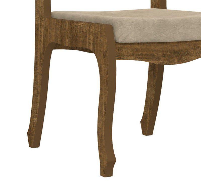 Jogo de 2 Cadeiras Ônix II Imbuia com Pena Caramelo - RV Móveis