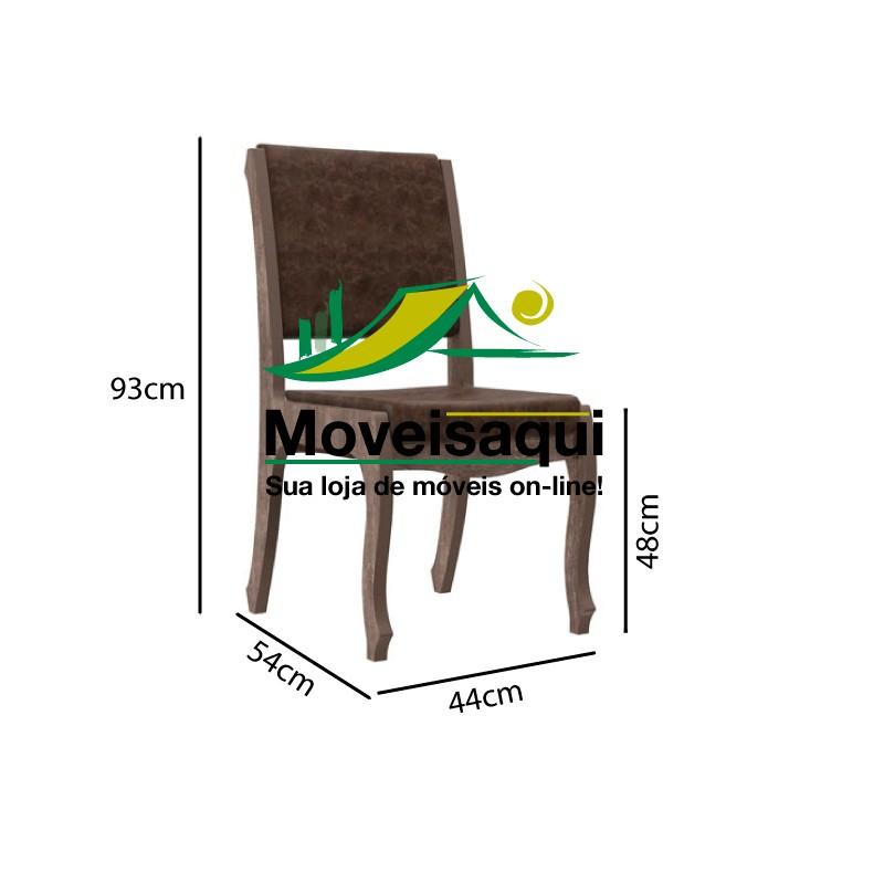 Jogo 2 Cadeiras Ônix II Noce com Suede Bege - RV Móveis