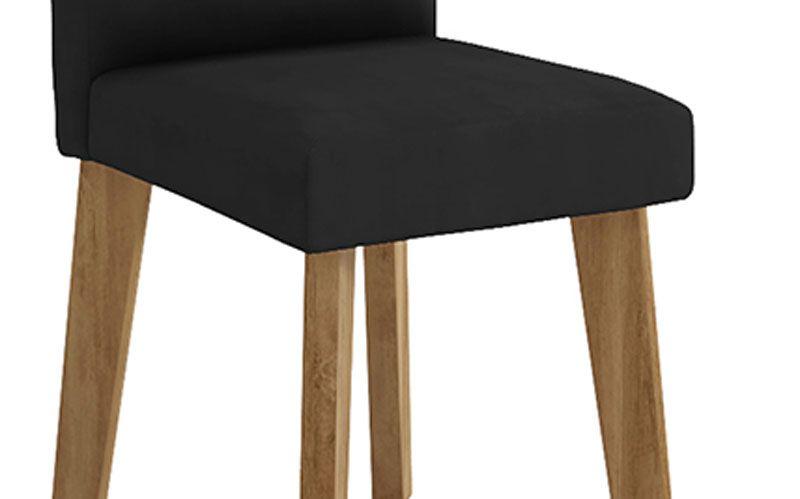 Jogo de 2 Cadeiras Diamante Pé Oblongo Suede Preto - RV Móveis