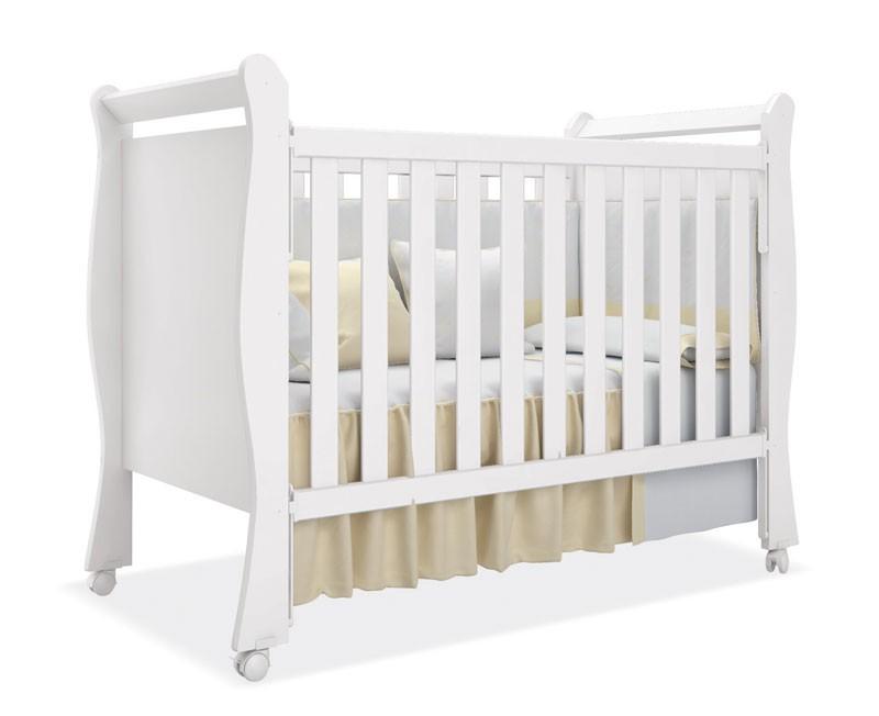 Jogo de Quarto para Bebe Completo Baby com Baba Branco com Rosa - Imaza Moveis