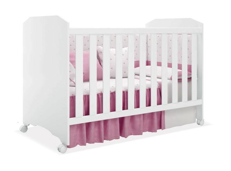Jogo de Quarto para Bebê Completo Encanto Branco com Rosa - Imaza Móveis