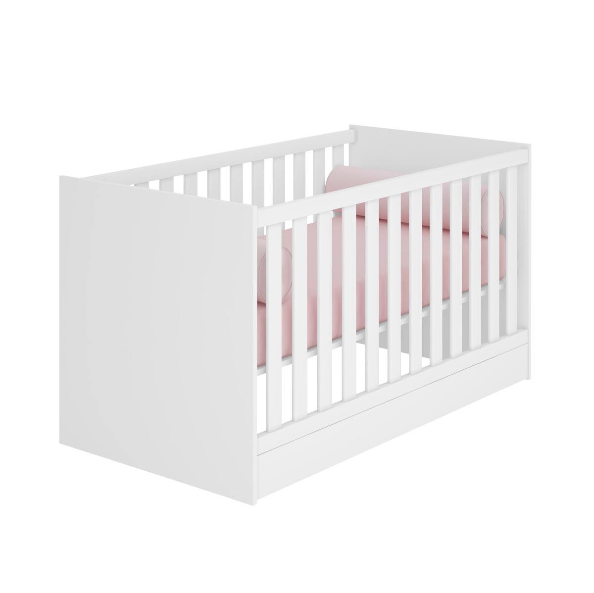Jogo de Quarto para Bebê Completo Floc Branco - MoveisAqui