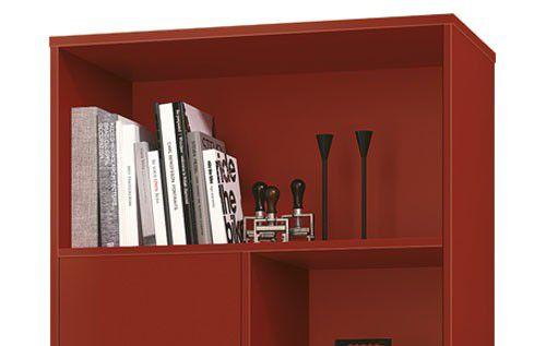 Livreiro Pes Palito Retrô Chaplin Vermelho - Edn Móveis