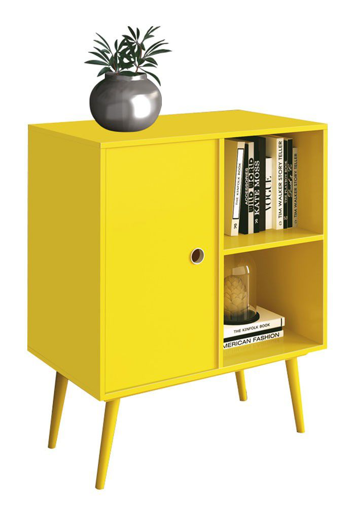 Mesa de Apoio Lateral Duna Amarelo - Edn Móveis