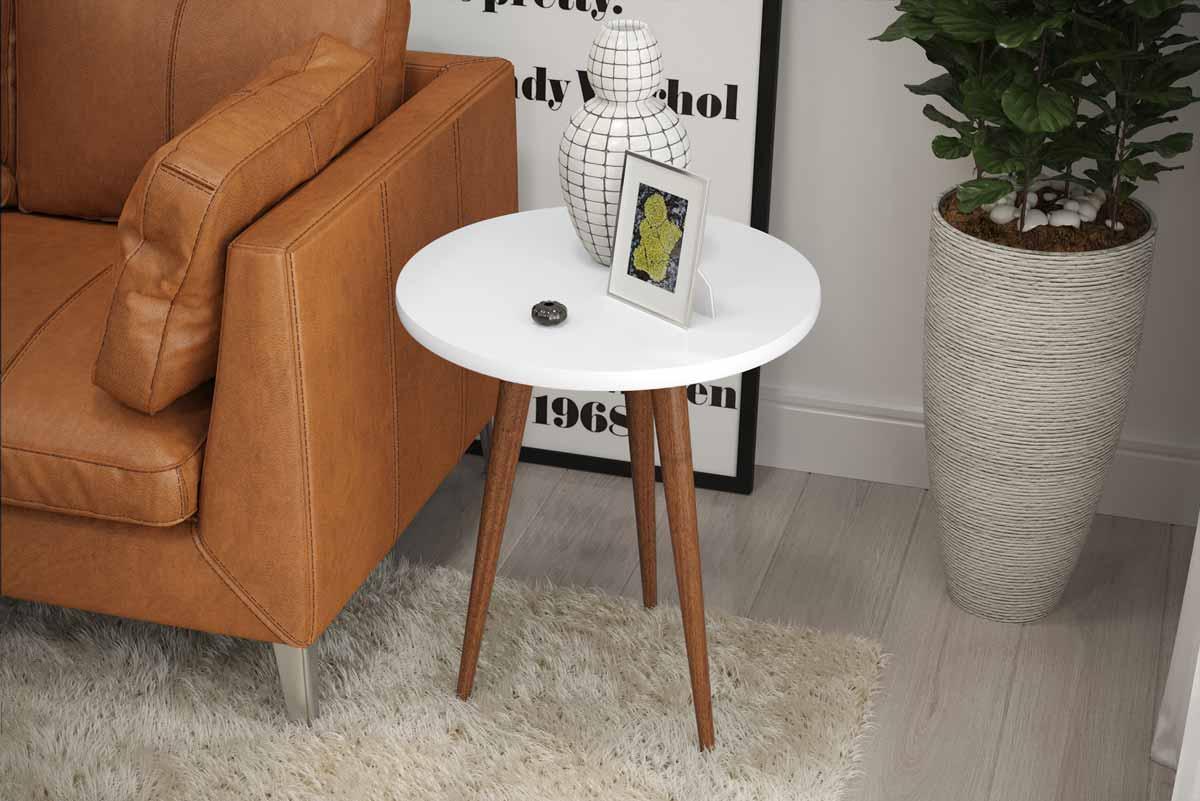 Mesa de Apoio Legs Branco - Patrimar Móveis