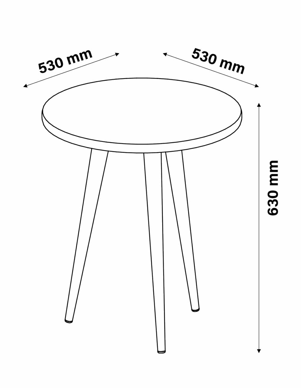 Mesa de Apoio Legs Terracota - Patrimar Móveis
