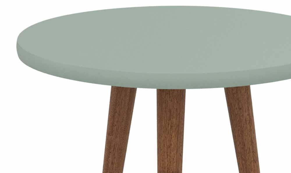 Mesa de Apoio Legs Verde Bellagio - Patrimar Móveis