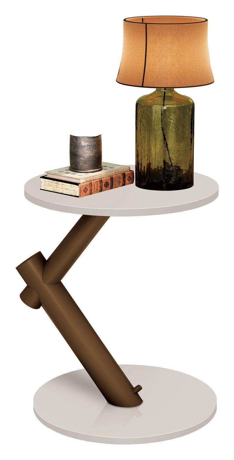 Mesa de Apoio Wood Off White - EDN Móveis