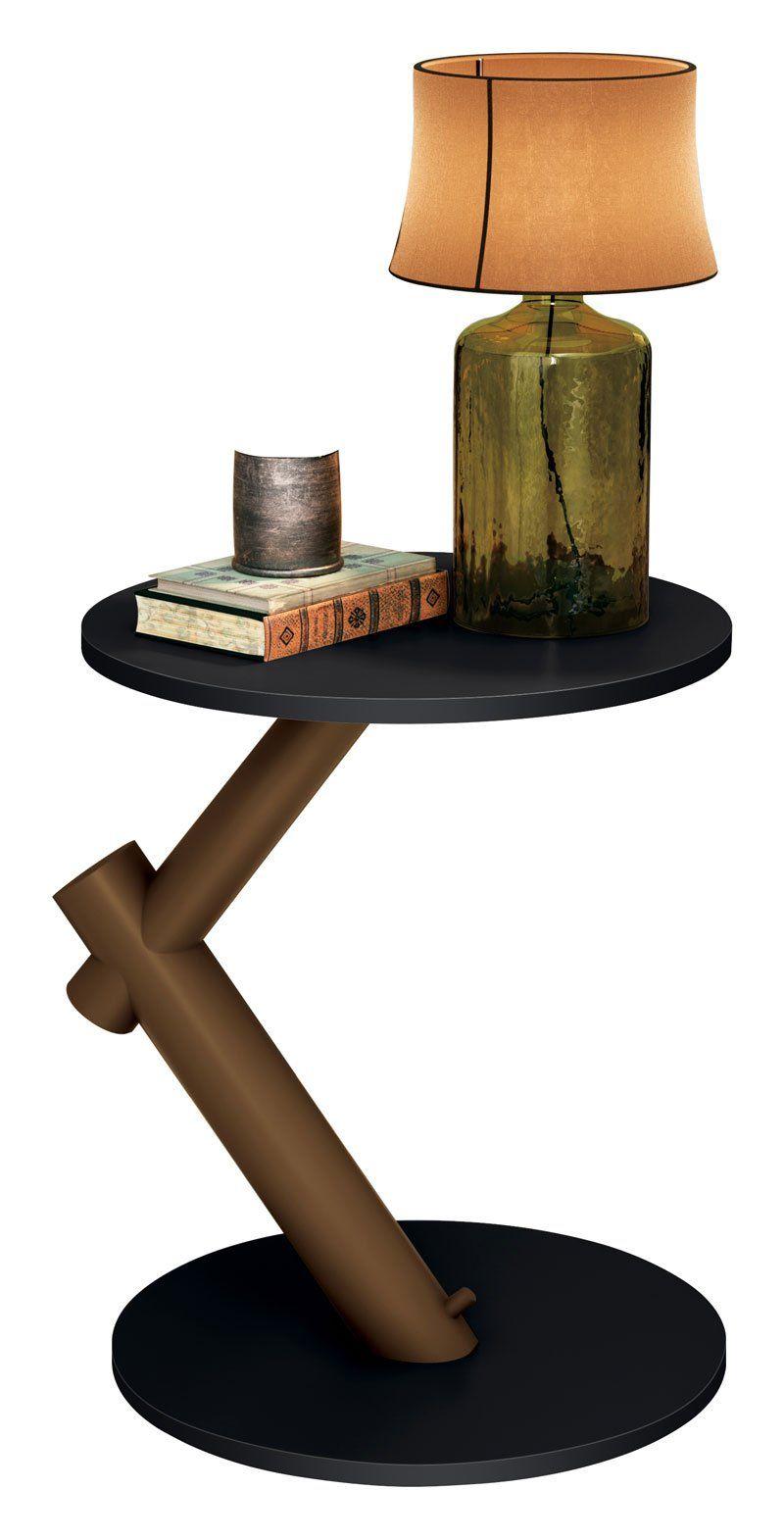Mesa de Apoio Wood Preto - EDN Móveis