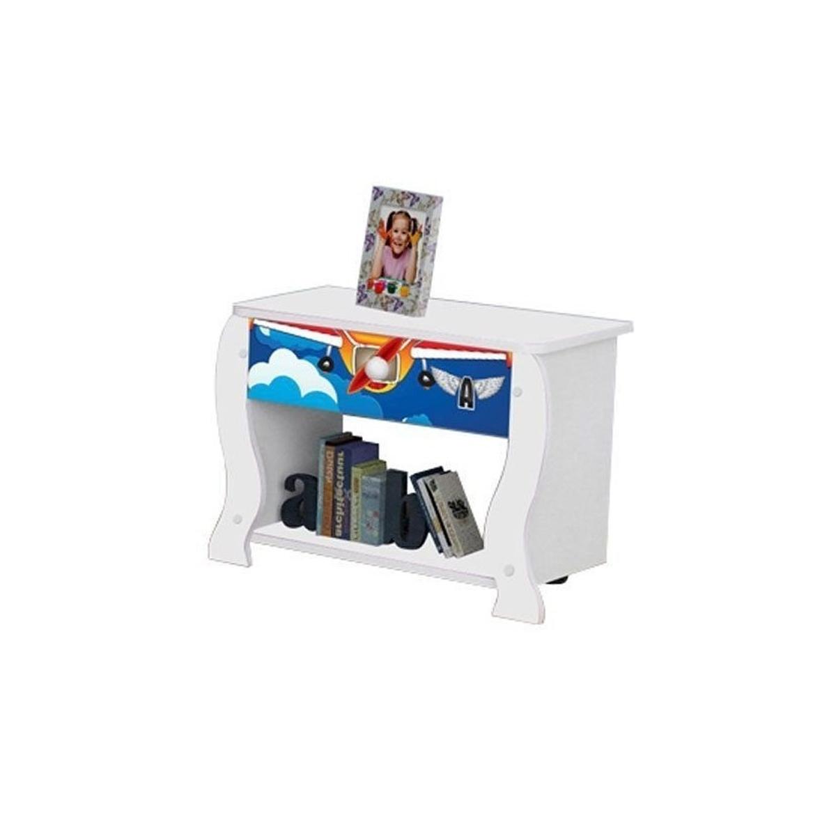 Mesa de Cabeceira Lara Avião - JeA Móveis