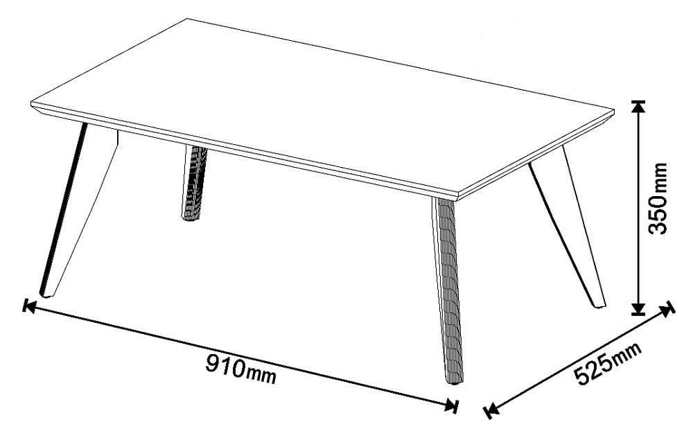 Mesa de Centro Classic Off White - Imcal Móveis