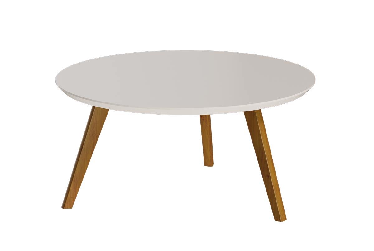 Mesa de Centro Classic Redonda Off White - Imcal Móveis