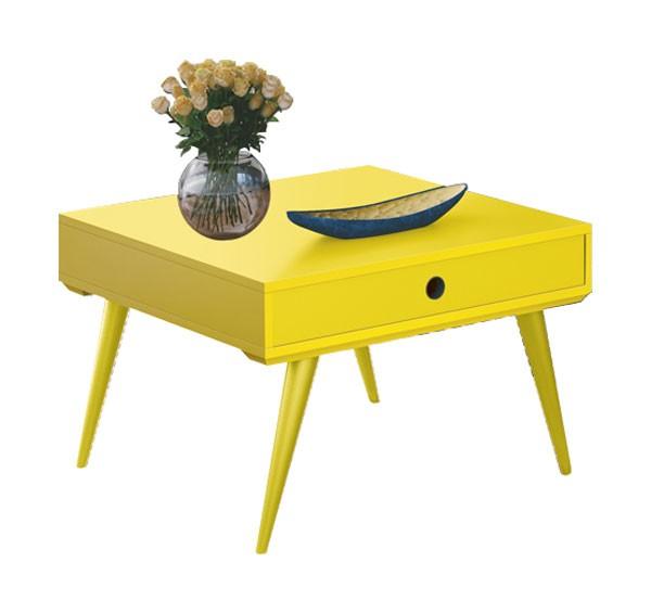 Mesa de Centro Dakota Amarelo - Edn Moveis