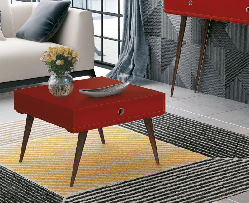Mesa de Centro Dakota Vermelho - Edn Móveis