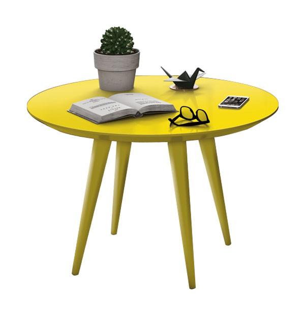 Mesa de Centro Grace Amarelo - Edn Moveis