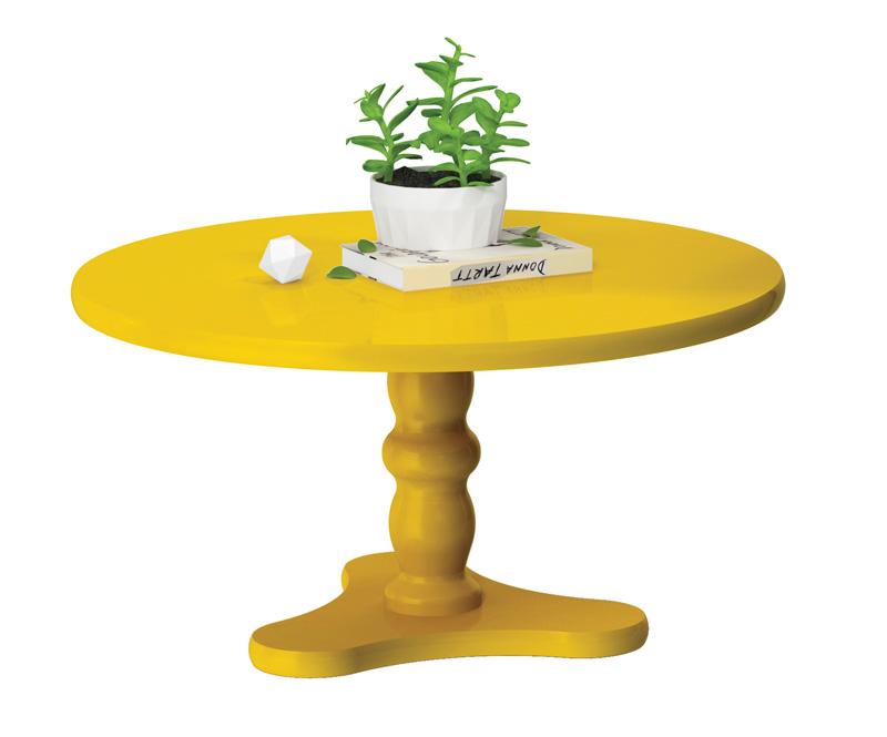 Mesa de Centro Intense Amarelo - Patrimar Móveis