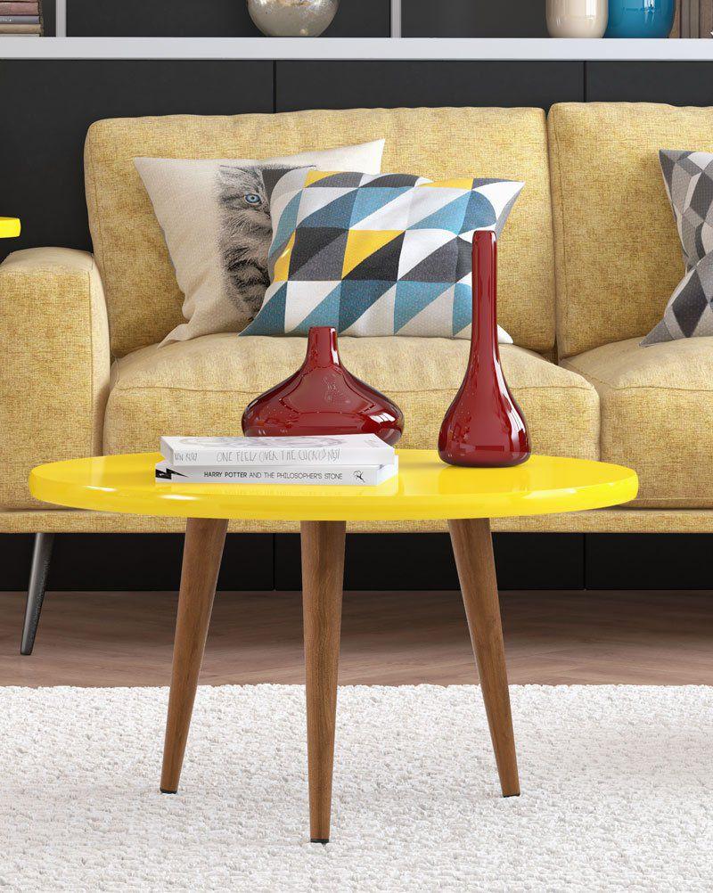Mesa de Centro Legs Amarelo - Patrimar Móveis