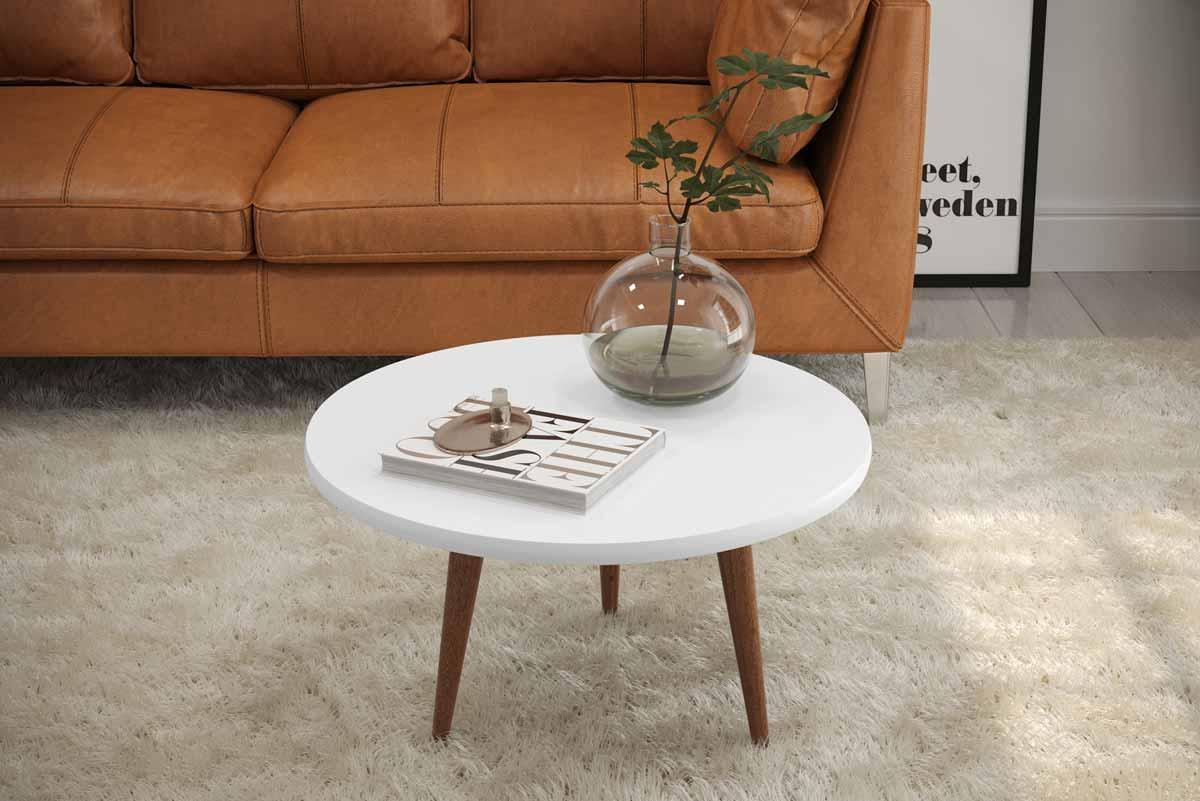 Mesa de Centro Legs Branco - Patrimar Móveis
